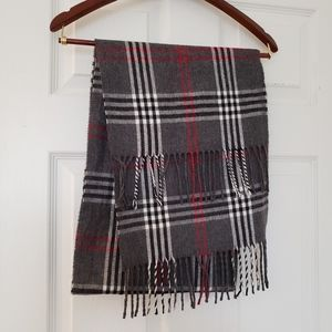 Alexander Julian Plaid Fringed Scarf Colours